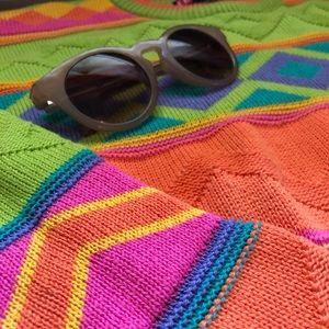 Vintage Neon Sweater  Super Bright   Size Medium